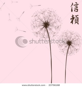 Dandelion in the japanese style