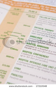 Cost of health insurance form