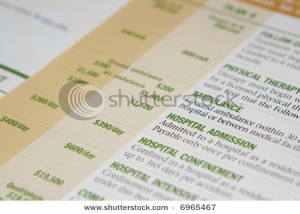 Health insurance form paperwork